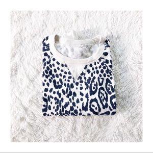 Gap white crew neck animal print sweater small